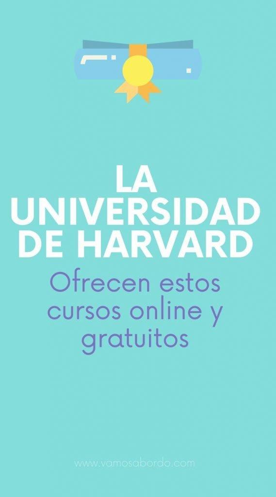 Cursos gratuitos de Harvard